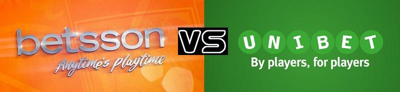 Vilket spelbolag är bäst av Betsson och Unibet?